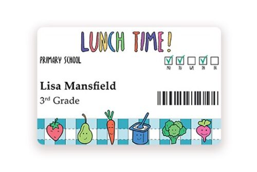 Badgy cafeteria cards
