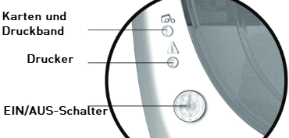 Bedeutung der Badgy-Drucker-LEDs